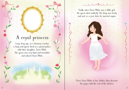 Snow White sticker book 200 stickers1