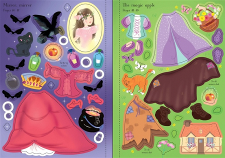 Snow White sticker book 200 stickers3