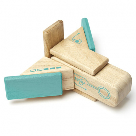 Robo joc de constructie magnetic cu piese din lemn1