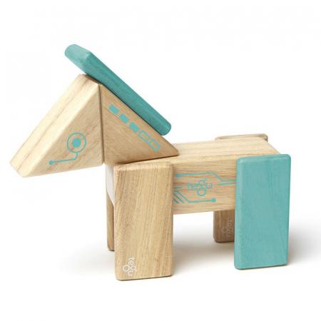 Robo joc de constructie magnetic cu piese din lemn0