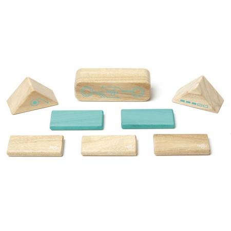 Robo joc de constructie magnetic cu piese din lemn5