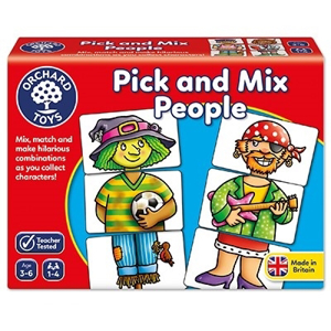 Joc educativ Asociaza personajele PICK AND MIX PEOPLE0