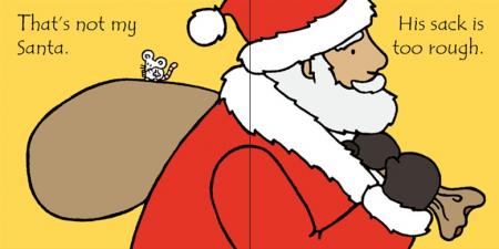 That's not my Santa carte senzoriala de Crăciun2