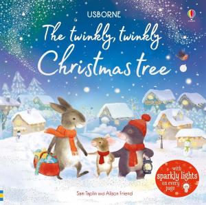 The twinkly twinkly Christmas tree- carte cu luminițe de Crăciun0