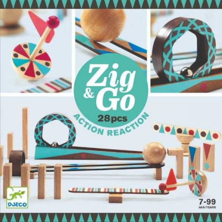 ZigGo set de constructie trasee 28 piese0