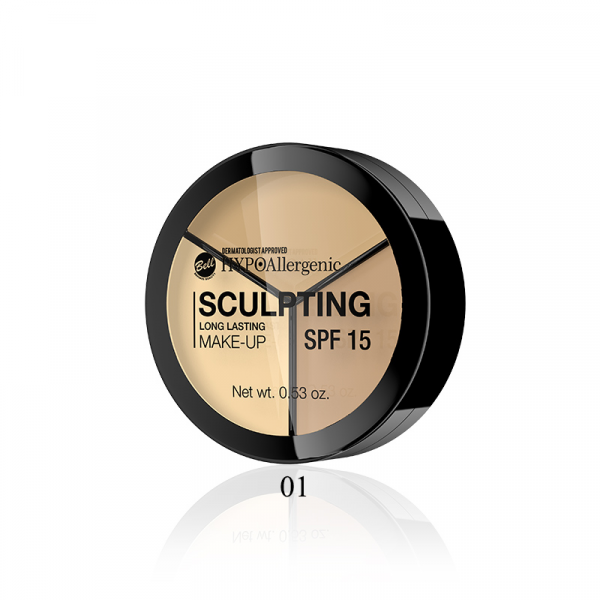 Paleta Corectoare Hipoalergenica Sculpting BELL Lon Lasting Make-Up - 01 - PlusBeauty.ro 0