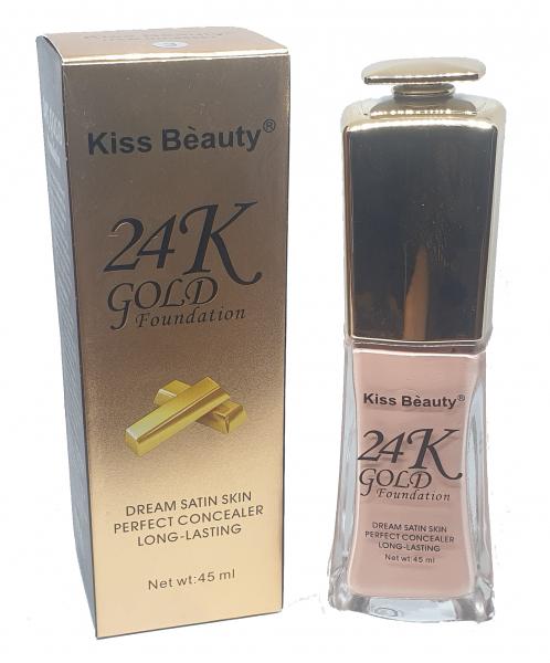 Fond de Ten 24K Gold Foundation Kiss Beauty 01 - PlusBeauty.ro 1