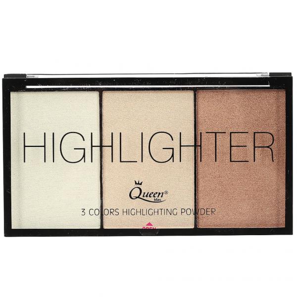 Paleta Iluminatoare Queen 3 culori Highlighter - 01 - PlusBeauty.ro 0