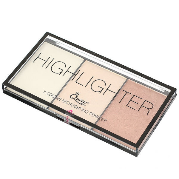 Paleta Iluminatoare Queen 3 culori Highlighter - 01 - PlusBeauty.ro 2