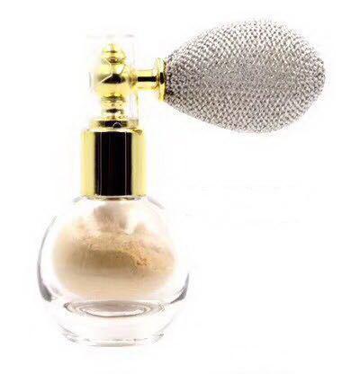 Pudra Parfumata cu Sclipici HUADI cu Spray de Pulverizare - 01 Ivory White - PlusBeauty.ro 0