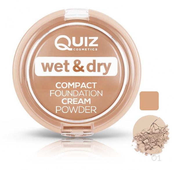 Pudra cremoasa compacta Quiz Wet & Dry - 01 - PlusBeauty.ro 0