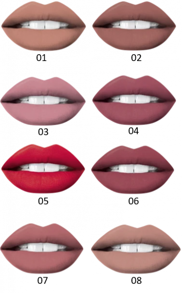 Set Ruj Lichid Mat + Creion Oh! My Lips Eveline - 05 Red Passion - PlusBeauty.ro 3