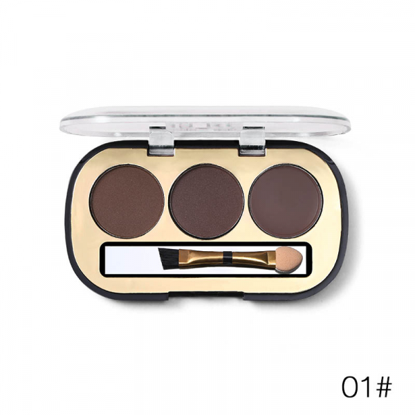 Trusa Sprancene 3 in 1 Eyebrow Powder & Eyebrow Cream Miss Rose - 01 - PlusBeauty.ro 0