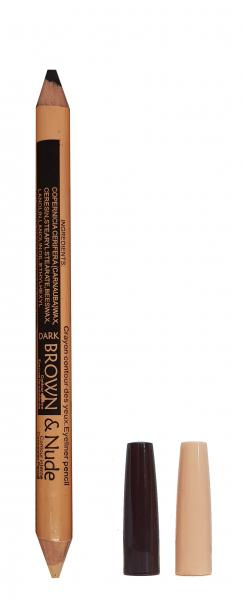 Corector si Creion Sprancene USHAS - Dark Brown & Nude - 02 - Plusbeauty.ro 0