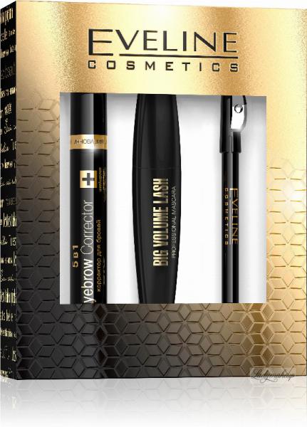 Eveline Cosmetics Gift Set 3 in 1 - Rimel ReveLashes+ Corector Sprancene + Creion dermatograf 0