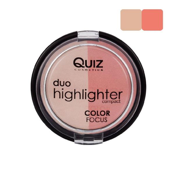 Fard Obraz & Pudra Iluminatoare Duo Highlighter Color Focus Quiz - 050 - PlusBeauty.ro 0
