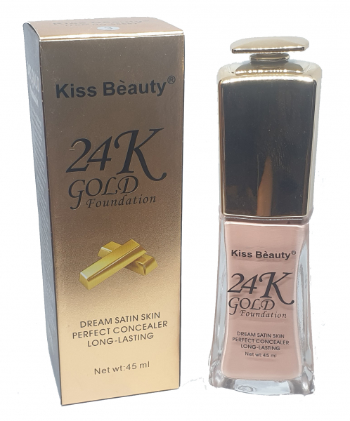 Fond de Ten 24K Gold Foundation Kiss Beauty 02 - PlusBeauty.ro 1