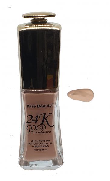 Fond de Ten 24K Gold Foundation Kiss Beauty 02 - PlusBeauty.ro 0
