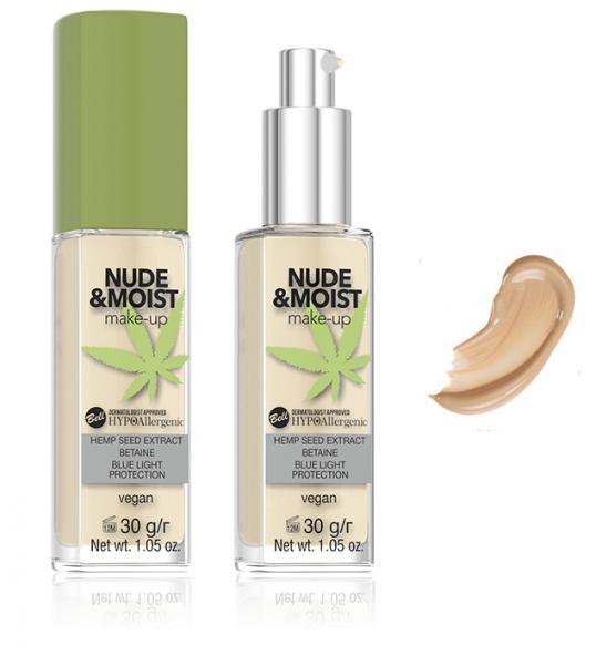 Fond de Ten Vegan Hidratant și Hrănitor Hipoalergenic Nude&Moist Make-up -  03 Sand - PlusBeauty.ro 0