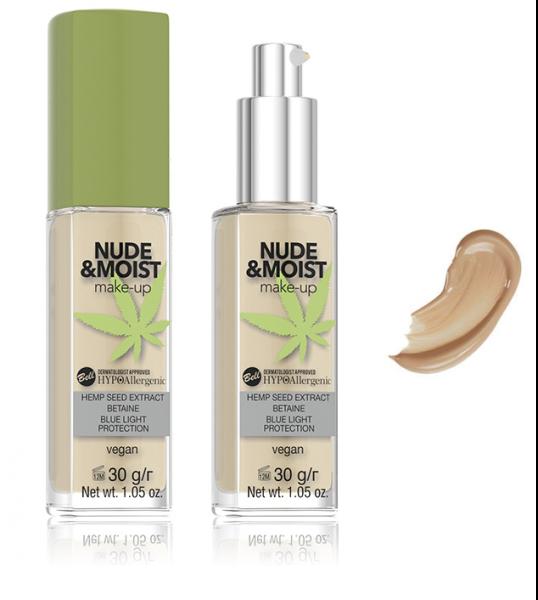 Fond de Ten Vegan Hidratant și Hrănitor Hipoalergenic Nude&Moist Make-up - 04 Natural Tan - PlusBeauty.ro 0