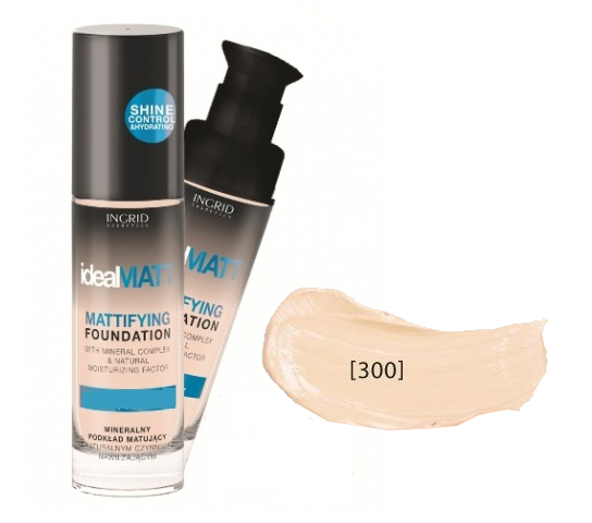Fond de Ten Ideal MATT 30ml Ingrid Cosmetics - 300 Ivory - PlusBeauty.ro 0