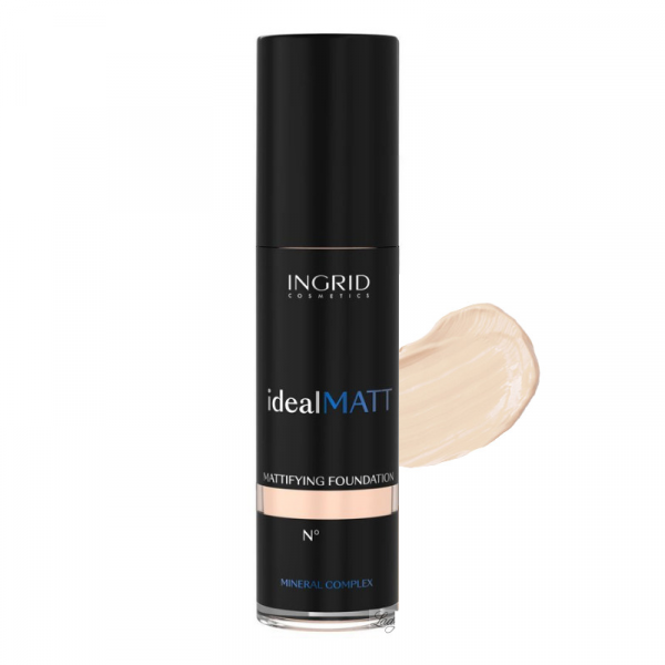 Fond de Ten Ideal MATT 30ml Ingrid Cosmetics - 301 - PlusBeauty.ro 0