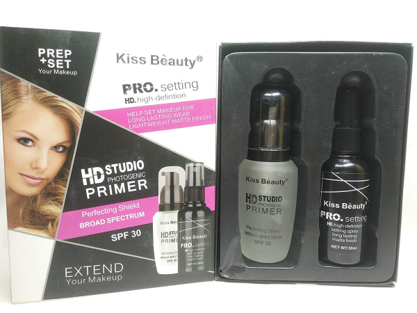 Kit Extend Makeup - Baza Machiaj HD Studio Photogenic Primer SPF 30, Spray Fixare PRO Setting Kiss Beauty - PlusBeauty.ro 3