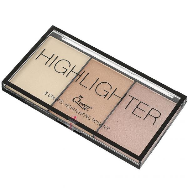 Paleta Iluminatoare Queen 3 culori Highlighter - 02 - PlusBeauty.ro 3