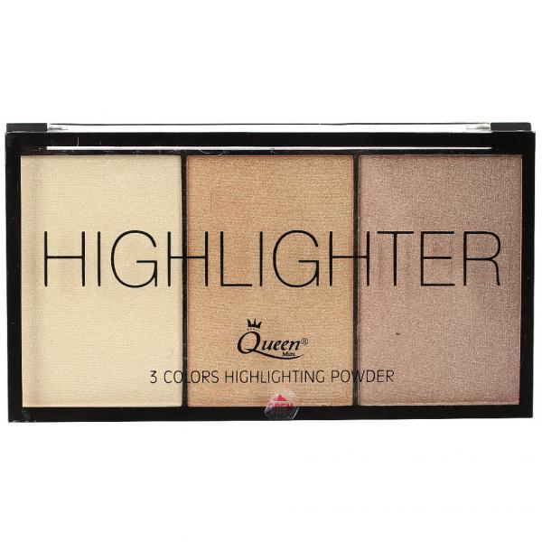 Paleta Iluminatoare Queen 3 culori Highlighter - 02 - PlusBeauty.ro 0