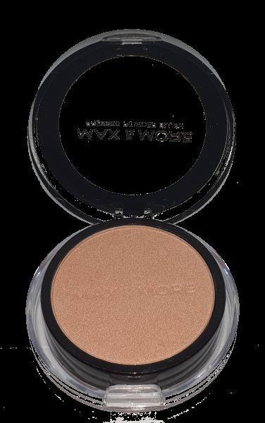 Pudra Blush Pressed Powder cu Oglinda si Burete Max&More - 505 Nude Glam - PlusBeauty.ro 0