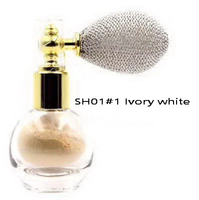 Pudra Parfumata cu Sclipici HUADI cu Spray de Pulverizare - 01 Ivory White - PlusBeauty.ro 4