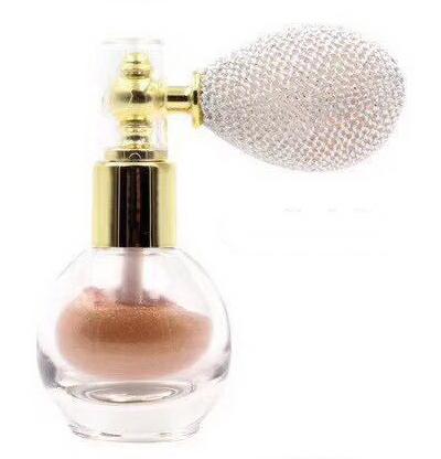 Pudra Parfumata cu Sclipici HUADI cu Spray de Pulverizare - 04 Rose Gold - PlusBeauty.ro 0