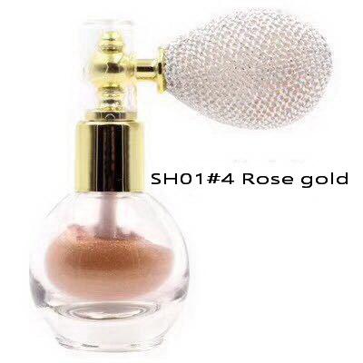 Pudra Parfumata cu Sclipici HUADI cu Spray de Pulverizare - 04 Rose Gold - PlusBeauty.ro 4
