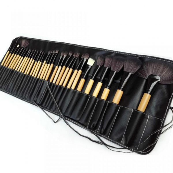 Set 32 pensule machiaj din mix de par natural + cadou Husa! 1