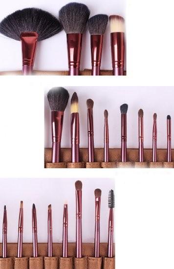 Set 24 Pensule Profesionale din Par Natural Megaga + Borseta Cadou - PlusBeauty.ro 3