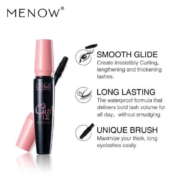 Set Menow Mascara Curl Fix + 2 Creioane de Ochi Negru si Maro - PlusBeauty.ro 3