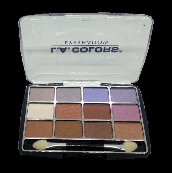 Trusa Farduri Pleoape 12 culori L.A. Colors - Glamorous - PlusBeauty.ro 0