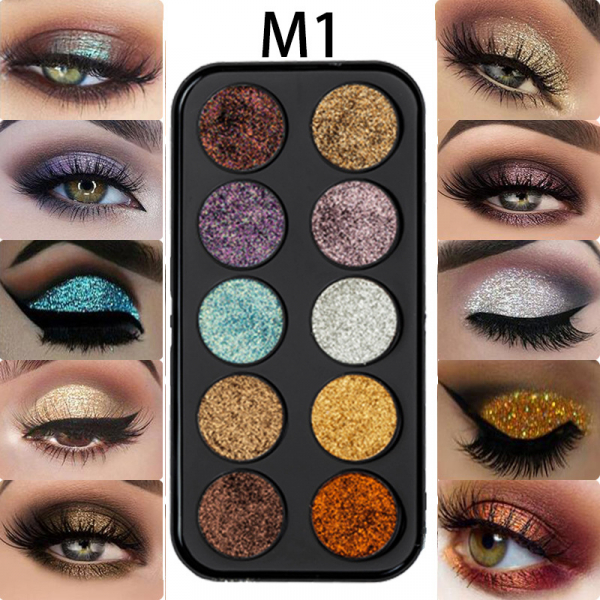 Trusa Glitter Diamant Miss Rose 10 culori - M1 - PlusBeauty.ro 2