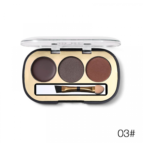 Trusa Sprancene 3 in 1 Eyebrow Powder & Eyebrow Cream Miss Rose - 03 - PlusBeauty.ro 0