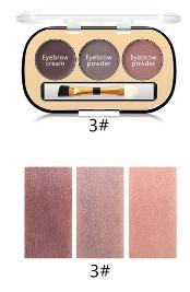 Trusa Sprancene 3 in 1 Eyebrow Powder & Eyebrow Cream Miss Rose - 03 - PlusBeauty.ro 2