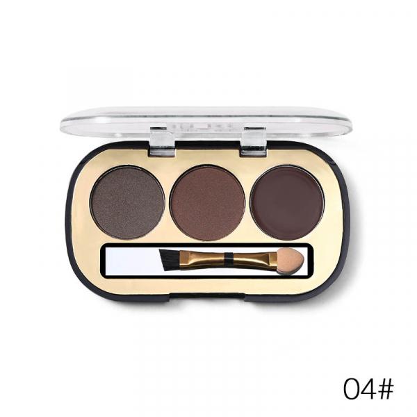 Trusa Sprancene 3 in 1 Eyebrow Powder & Eyebrow Cream Miss Rose - 04 - PlusBeauty.ro 0