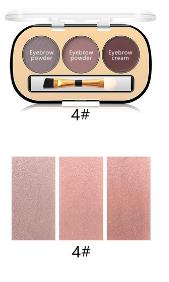 Trusa Sprancene 3 in 1 Eyebrow Powder & Eyebrow Cream Miss Rose - 04 - PlusBeauty.ro 2