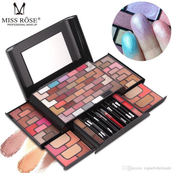 Trusa Machiaj Miss Rose 3D Fashion Profesional Make-up Kit - PlusBeauty.ro 5