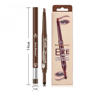 Creion Sprancene 2 in 1 Eye Secret Eyebrow Pencil & Glitter Eyebrow Kiss Beauty- Light Brown1