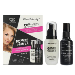 Kit Extend Makeup - Baza Machiaj HD Studio Photogenic Primer SPF 30, Spray Fixare PRO Setting Kiss Beauty0
