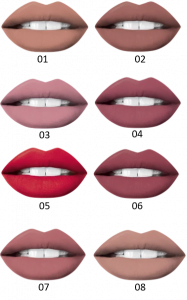 Set Ruj Lichid Mat + Creion Oh! My Lips Eveline - 05 Red Passion3