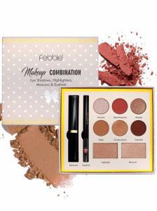 Trusa Machiaj Febble Makeup Combination 4 in 1 Farduri, Iluminatoare, Mascara, Creion Ochi0