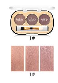 Trusa Sprancene 3 in 1 Eyebrow Powder & Eyebrow Cream Miss Rose - 012
