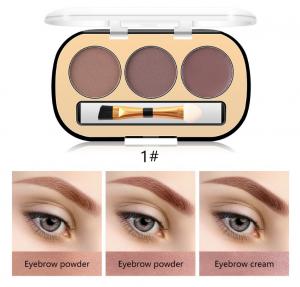 Trusa Sprancene 3 in 1 Eyebrow Powder & Eyebrow Cream Miss Rose - 011