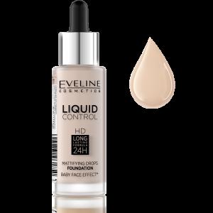 Fond de Ten Liquid Control Matifiant 24H Eveline - 005 Ivory0